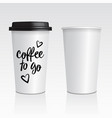 realistic blank mock up paper cups with vector image vector image