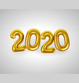 realistic golden numbers or balloons 2020 vector image