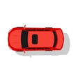 Red Car Top View Flat Design vector image vector image