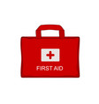 red medical emergency bag vector image vector image