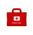 red medical emergency bag vector image vector image