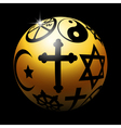 Religious ball vector image