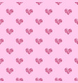 seamless pattern background with pink hearts vector image vector image