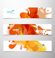 set abstract colorful web headers vector image vector image
