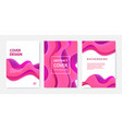 set abstract wavy banners brochures vector image vector image