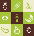 Set of Line Art Icons Healthy Vegetables and