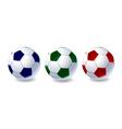 set soccer balls vector image vector image
