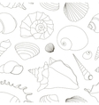 Shell set pattern vector image