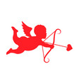 silhouette cupid vector image vector image