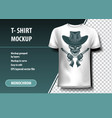 skull cowboy killer t-shirt template fully vector image vector image