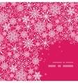 Snowflake Texture Corner Frame Pattern Background vector image vector image