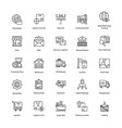 stimulating logistics delivery icons vector image vector image