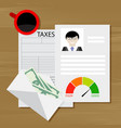 tax on credit vector image vector image