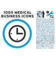Time Icon with 1000 Medical Business Pictograms vector image