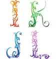 Tribal tattoo letters vector image vector image