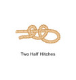 type nautical or marine node two half hitches vector image vector image