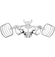 viking gym mascot grit line art vector image vector image