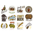 vintage beer badge set alcoholic label vector image vector image