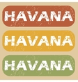 Vintage Havana stamp set vector image vector image