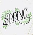 Vintage Spring Banner vector image