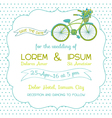 Wedding Invitation Card - Vintage Bicycle Theme vector image vector image