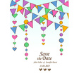 Wedding invitation with decoration of hanging vector image vector image
