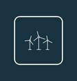 windmills icon line symbol premium quality vector image vector image