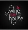 wine logo design red and white wine label on vector image vector image