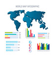 world planet infographic icons vector image