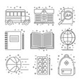 back to school set of icons vector image