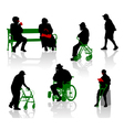 elderly and disabled people vector image