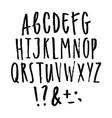 hand written grunge font vector image