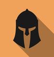 Icon of ancient Greek Roman Spartan helmet vector image