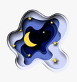 3d abstract paper cut of moon and vector image vector image