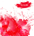 Abstract red watercolor background vector image