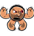 Angry cartoon monster with stubble vector image vector image