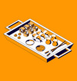 asian food menu isometric composition vector image vector image