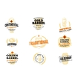 Beer Hop Logo Set vector image
