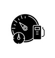business dashboard black icon sign on vector image vector image