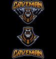 caveman mascot vector image