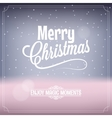 Christmas card magic night background vector image