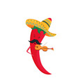 cinco de mayo 5th may funny cartoon chili vector image