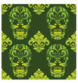 Classic Skull Ornamental Pattern vector image vector image