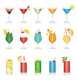 cocktail set vector image vector image