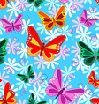 Colorful seamless butterfly pattern vector image vector image