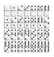 creative realistic domino vector image vector image