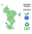 ecology green mosaic mayotte island map vector image vector image