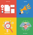 element marketing concept icon in flat design vector image