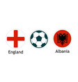 england versus albania - banner for soccer vector image vector image