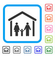 family cabin framed icon vector image vector image